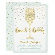 Faux Gold & Mint Brunch & Bubbly Bridal Shower