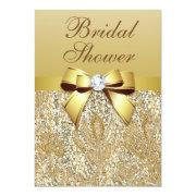 Faux Gold Sequins And Bow Bridal Shower