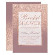 Faux Rose Gold Glitter Dusty Chic Bridal Shower
