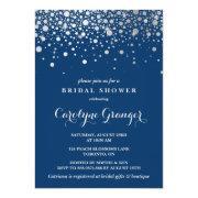 Faux Silver Foil Confetti | Navy Bridal Shower