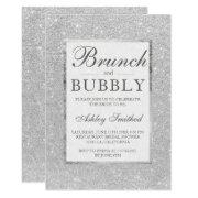 Faux Silver Glitter Brunch Bubbly Bridal Shower