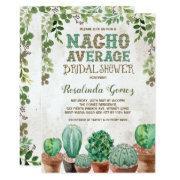 Fiesta Bridal Shower Cactus Succulent Invitations