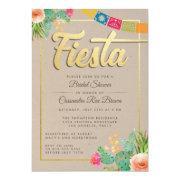 Fiesta Bridal Shower Invitations