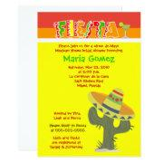 Fiesta Mexican Theme Bridal Shower Invite