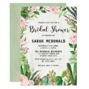 Fiesta Succulent Cactus Bridal Shower Invitations