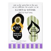 Flippin Out Couples Wedding Shower Pool Party Invitations