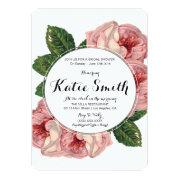 Floral Bride Shower Invitations