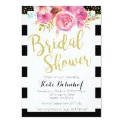Floral Black And White Bridal Shower