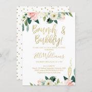 Floral Bridal & Bubbly Bridal Shower Invitation