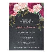 Floral Bridal Shower  Chalkboard