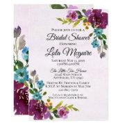 Floral Bridal Shower Invitation - Jewel Tones