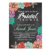 Floral Chalkboard Bridal Shower
