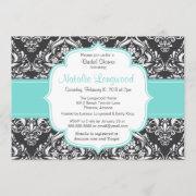Floral Damask Bridal Or Bridal Shower Invitation