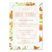 Floral Orange Bridal Shower