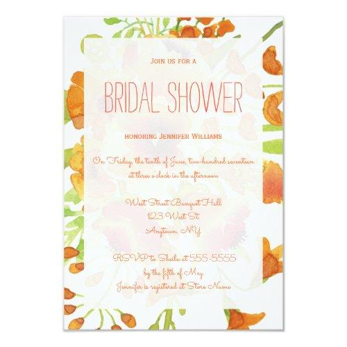 Floral Orange Bridal Shower