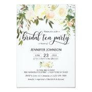 Floral Pink Ivory Cream Bridal Shower Tea Party
