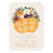 Floral Pumpkin Bridal Shower Invitations