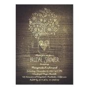 Floral Rustic Mason Jar Barn Bridal Shower Invitation