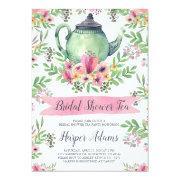 Floral Watercolor Teapot Bridal Shower Tea