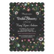 Floral Wreath Bridal Shower Chalkboard Invitations