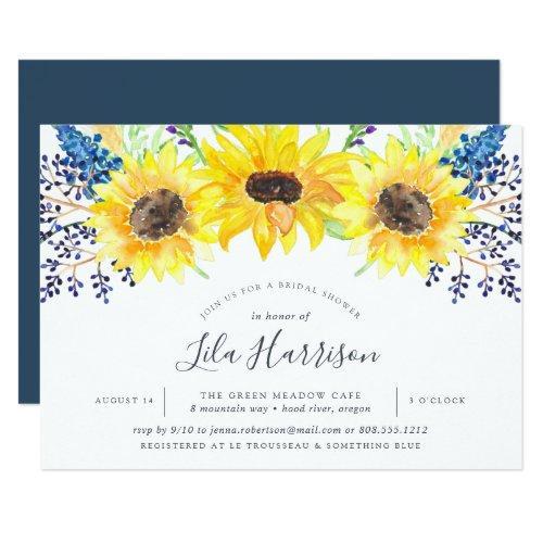 Flowerfields Bridal Shower Invitation