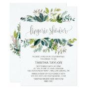 Foliage Lingerie Shower Invitations