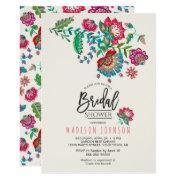 Folk Flowers | Bridal Shower | Invitations