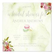French Macaroon Bridal Shower Invitation