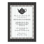 French Stripe Chic Bridal Shower Tea Party