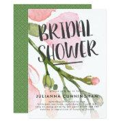 Fresh Watercolor Blooms Bridal Shower