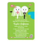 Fun Golf Ball And Tee Bride Groom Bridal Shower