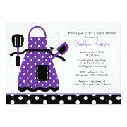 Fun Retro Kitchen Bridal Shower Invitation Purple