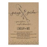 Garage & Garden Bridal / Couple's Shower Invitation