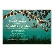 Garden Lights Bridal Shower Invitations Custom Announcements