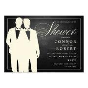Gay Couple Wedding Shower  Chalkboard
