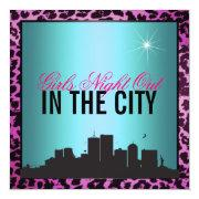 Girls Night Out In The City Invitation
