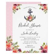 Girly Nautical Anchor Floral Bridal Shower