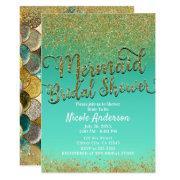 Glam Mermaid Bridal Shower Gold Glitter & Teal