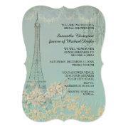 Glam Vintage Paris Parisian Stylish Bridal Shower Invitations