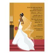 Glamorous Bride African-american Bridal Shower Inv