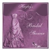 Glamorous Purple Wedding Gown Bridal Shower