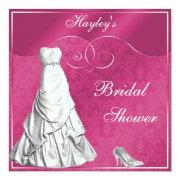 Glamorous Wedding Gown Pink Bridal Shower