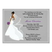 Glamour Girl Bridal Shower Invitation 1(c2a)