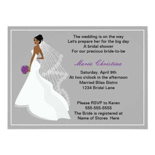 Glamour Girl Bridal Shower Invitations 1(c2a)