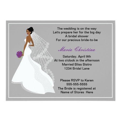 Glamour Girl Bridal Shower Invitation 1(c2a)