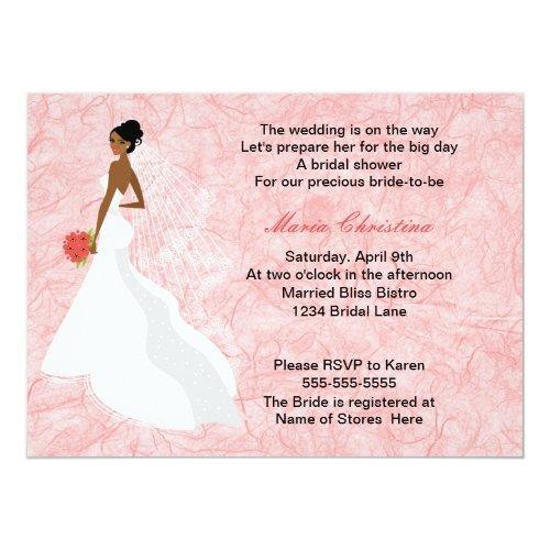 Glamour Girl Bridal Shower Invitations 2