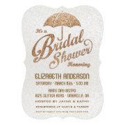 Glittering White & Gold Bridal Shower Invite