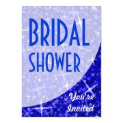 Glitz Dark Blue Curve 'bridal Shower'