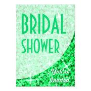 Glitz Green Curve 'bridal Shower'