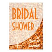 Glitz Orange Curve 'bridal Shower'